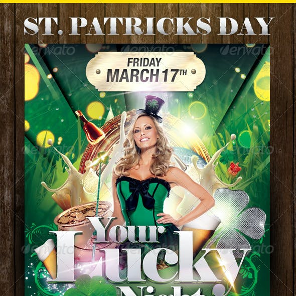 Do you feel Lucky? Party Flyer