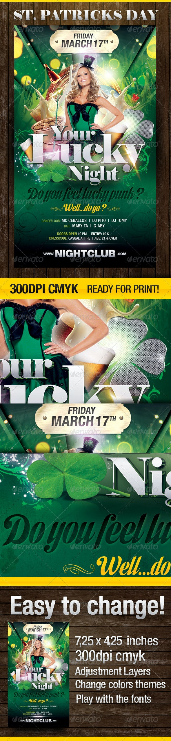Do you feel Lucky? Party Flyer - Clubs & Parties Events