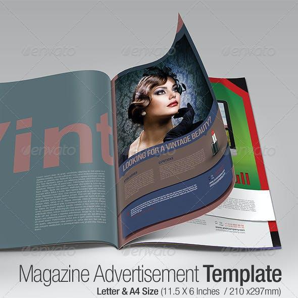 Magazine Advertisement Template