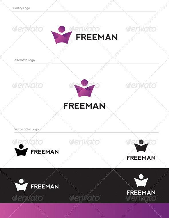 Freeman Logo Design - HUM-008 - Humans Logo Templates