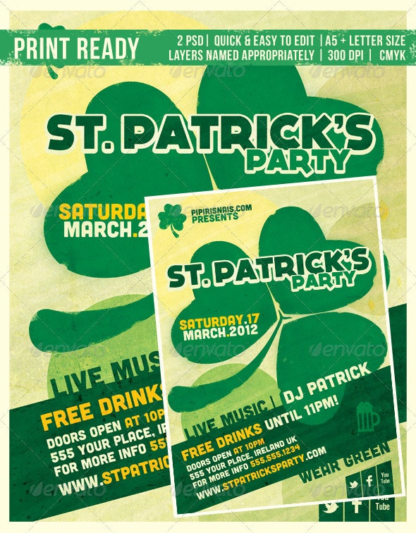 St. Patrick's Party - Clubs & Parties Events