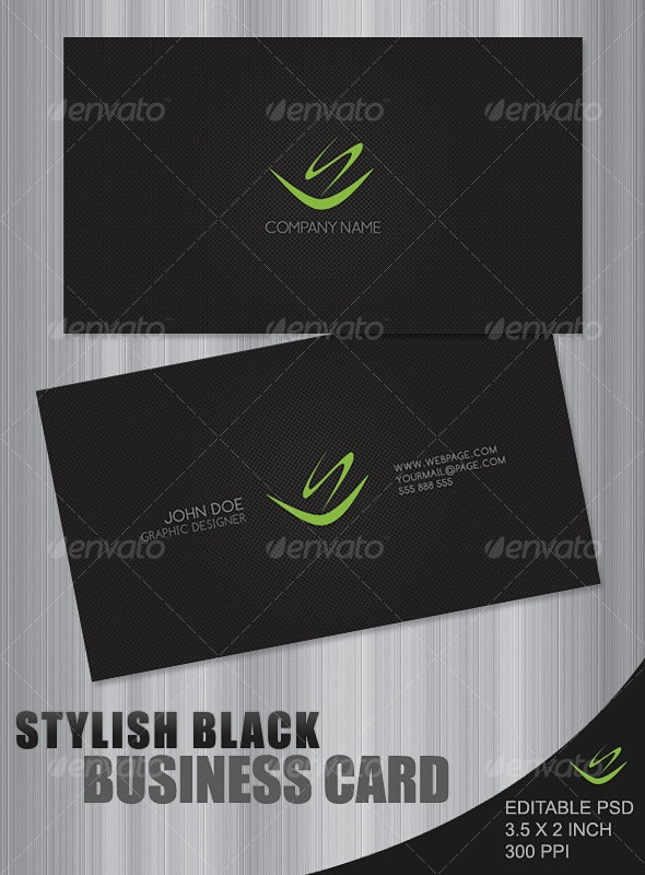 Stylish Black Business Card - Creative Business Cards