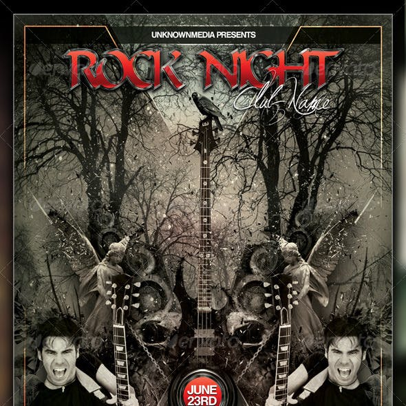 Rock Night Club Party / Concert Flyer / Poster