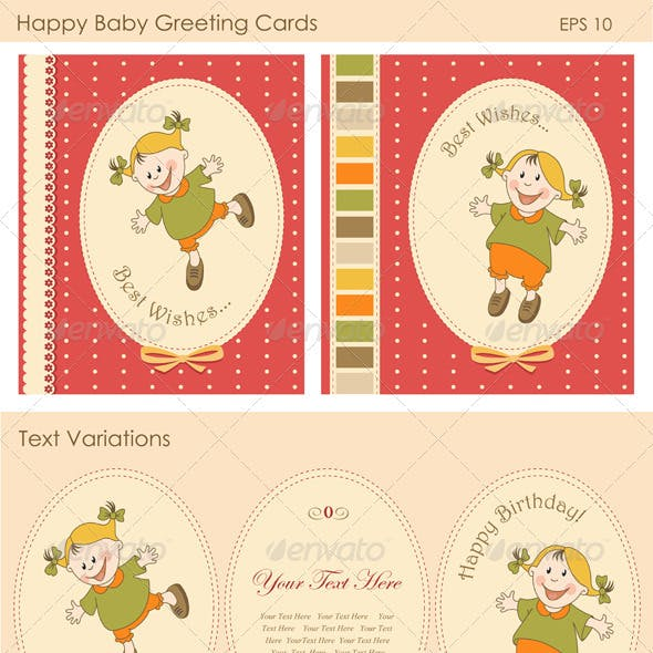 Happy Baby Greeting Cards