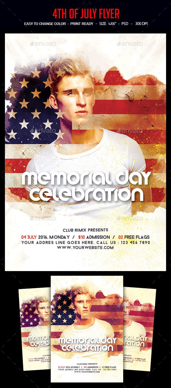 4th Of July Party Flyer - Clubs & Parties Events