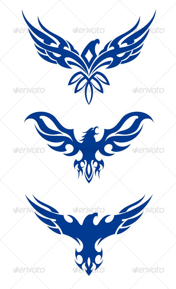 tribal eagles - Tattoos Vectors