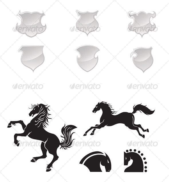 horses design - Animals Characters