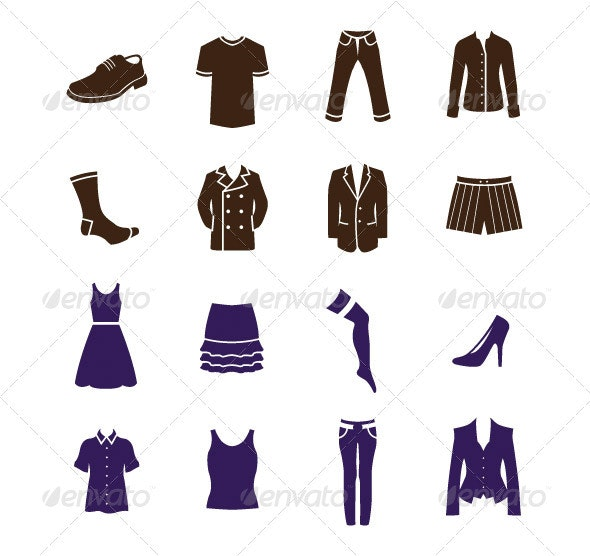 Men's And Women's Clothes 16 Item Pack - Man-made Objects Objects