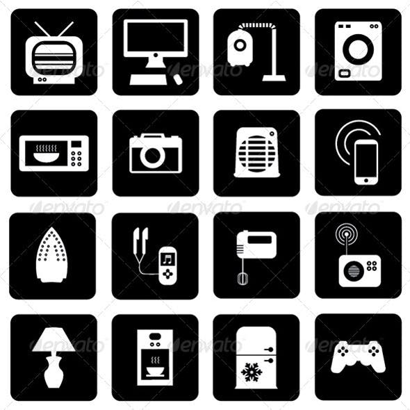 Electric Appliances 16 Icons Pack