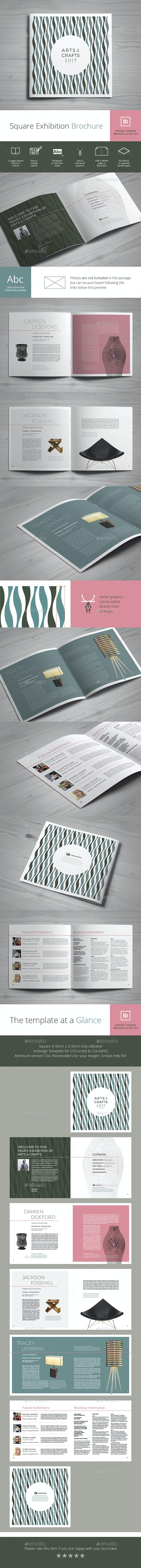 Square Exhibition Brochure - Brochures Print Templates