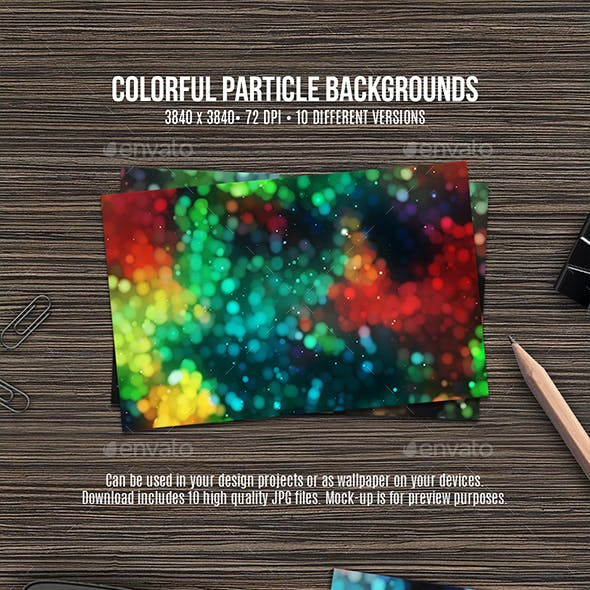 Colorful Particle Backgrounds