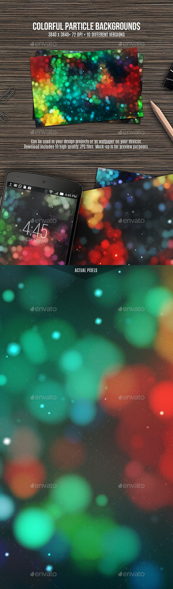 Colorful Particle Backgrounds - Abstract Backgrounds