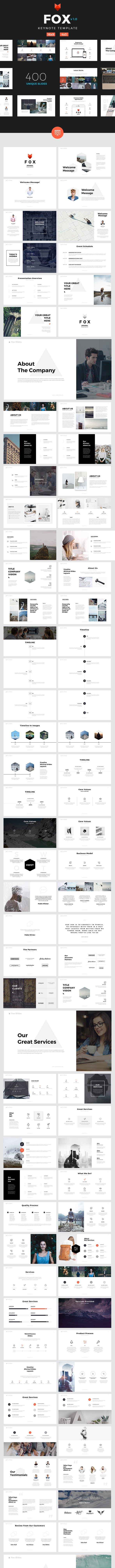 Fox - Keynote Template - Creative Keynote Templates