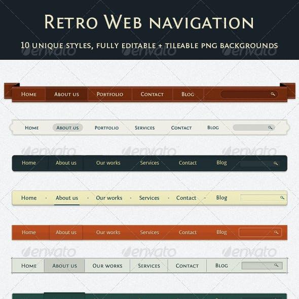 Retro Navigation Pack - 10 Styles