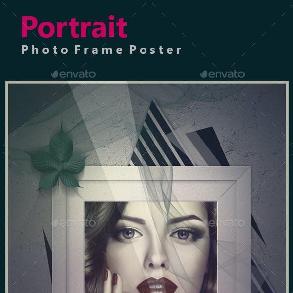 Portrait Photo Frame Poster