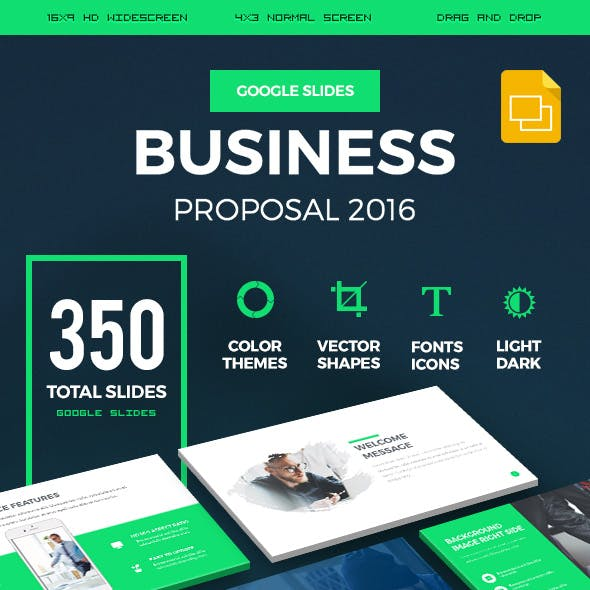 Business Proposal 2016 Google Slides Presentation Template