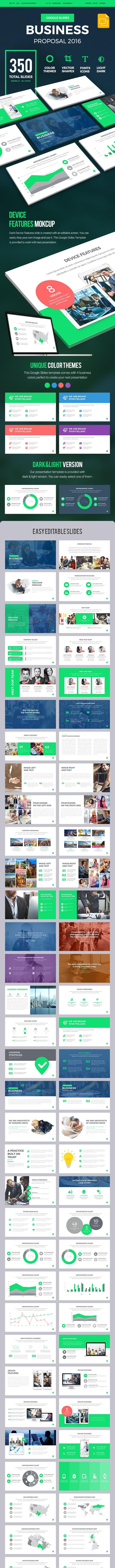 Business Proposal 2016 Google Slides Presentation Template - Google Slides Presentation Templates