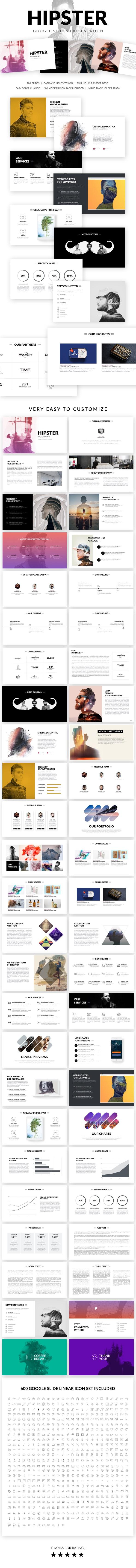 Hipster Google Slides Presentation Template - Google Slides Presentation Templates