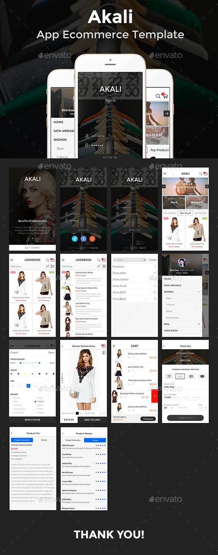Akali - Ecommerce App Template - User Interfaces Web Elements
