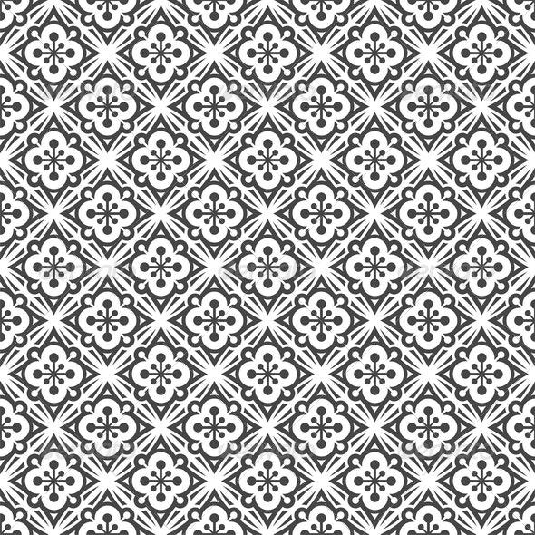 Seamless Black & White Pattern - Patterns Decorative