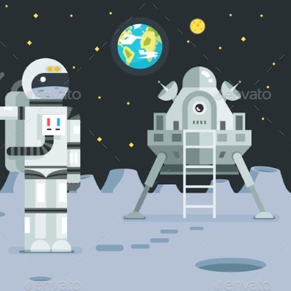 Cosmonaut Astronaut Landing