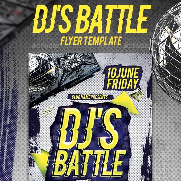 Dj's Battle Flyer Template
