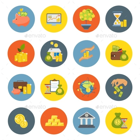 Investment Flat Icon Set - Business Icons