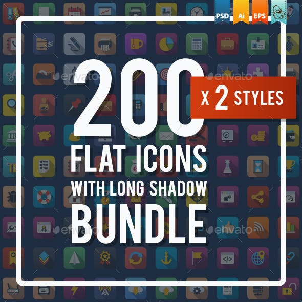Universal Colorful Flat Icons Bundle