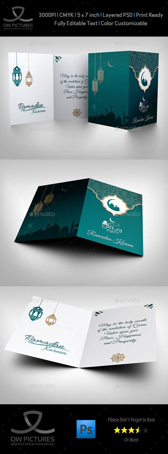 Ramadan Kareem Greeting Card - Cards & Invites Print Templates