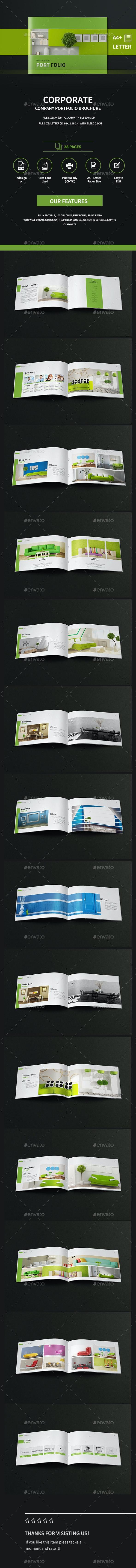 Landscape Company Portfolio Brochure A4 And Letter  - Portfolio Brochures