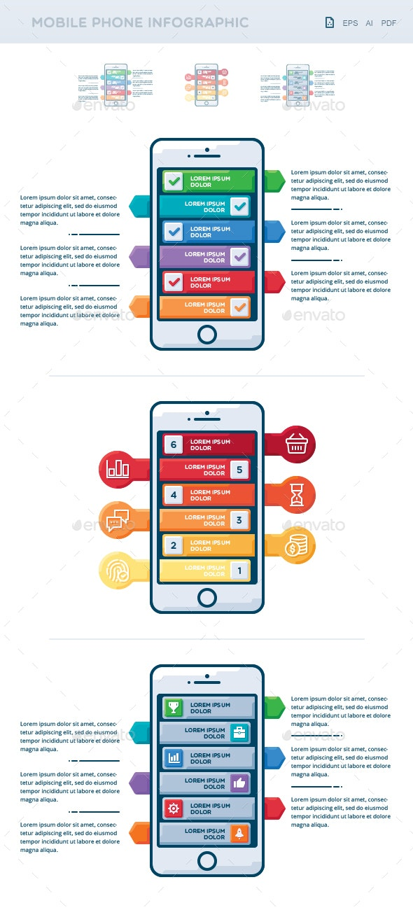 Mobile Phone Infographic - Infographics