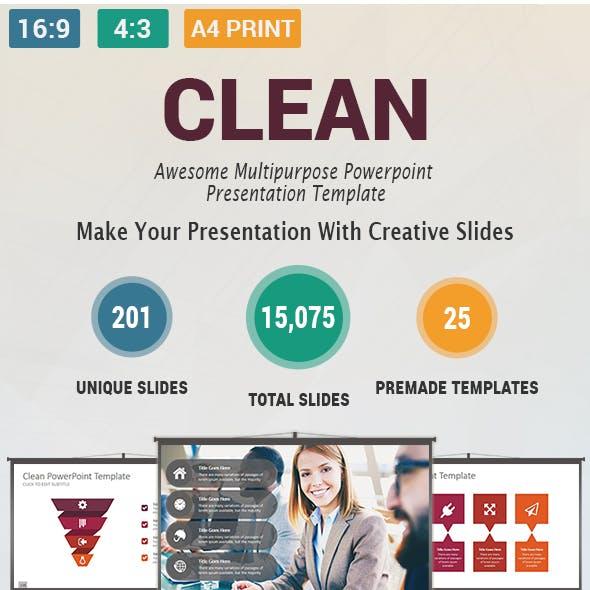 Clean  Multipurpose PowerPoint Presentation Template