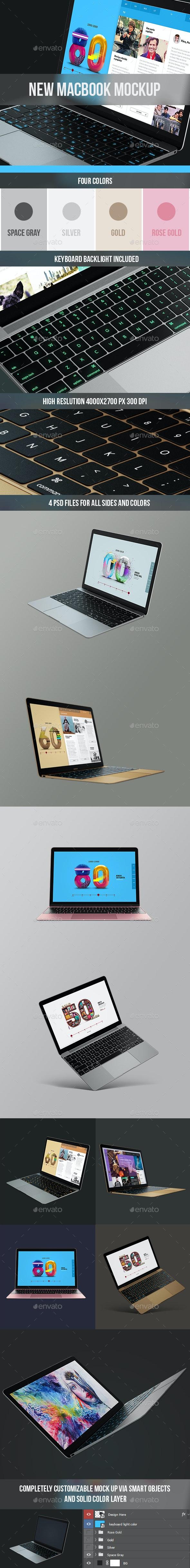 The New Macbook Mockup - Laptop Displays
