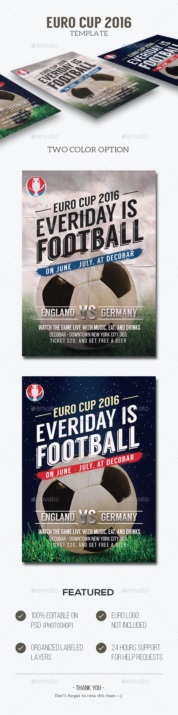 Euro Football Flyer - Sports Events