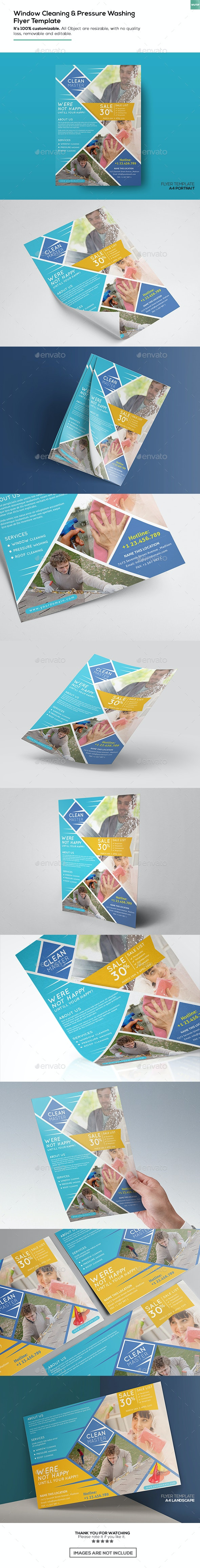 Window Cleaning & Pressure Washing/ Flyer Template - Corporate Flyers