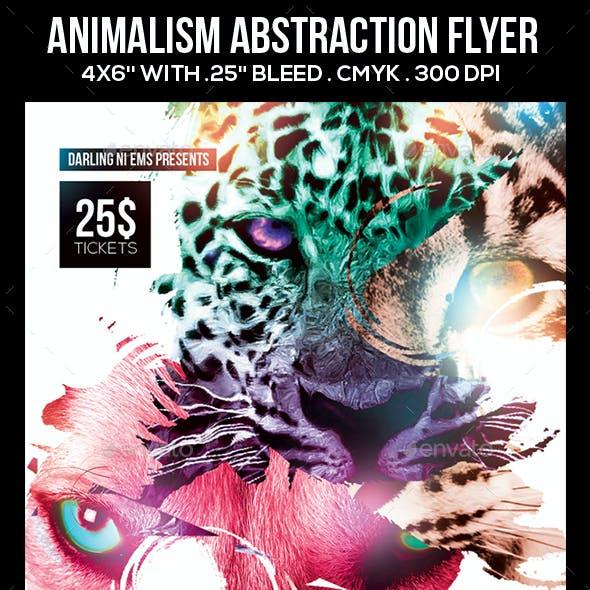 Animalism Absrtaction Flyer