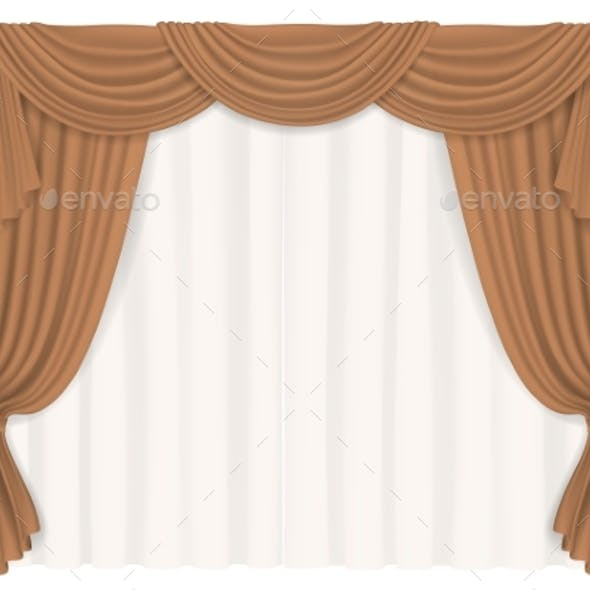 Heavy Beige Curtains