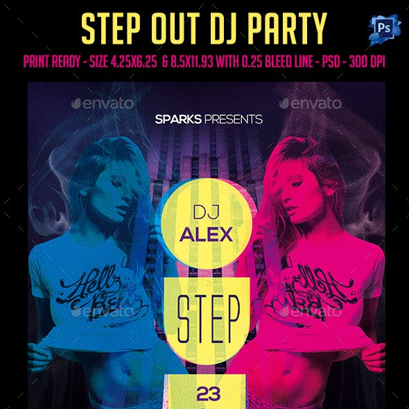 Step Out Dj Party Flyer