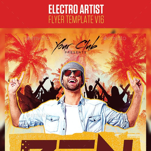 Electro House Artist Flyer v16
