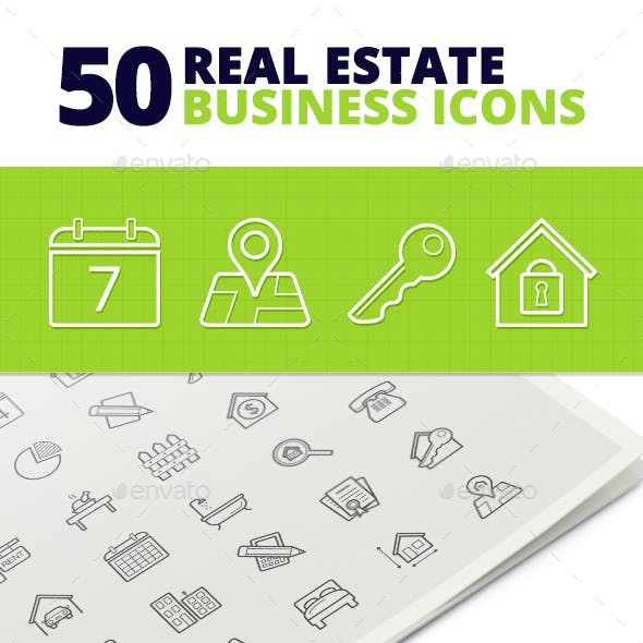 50 Real Estate Business Icons