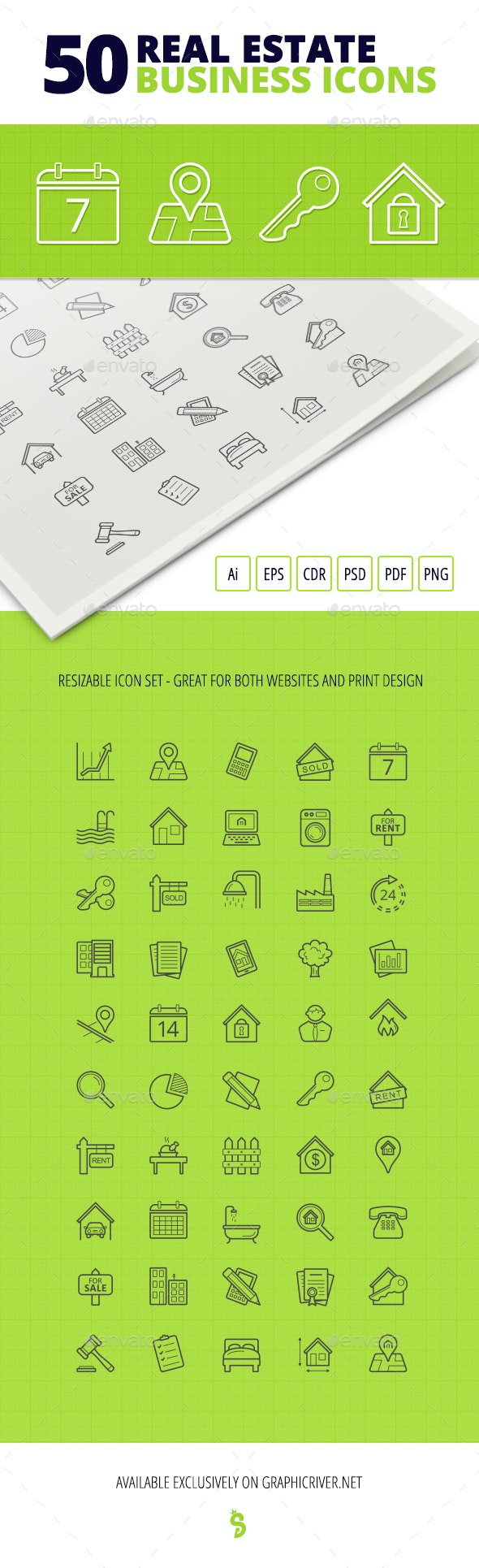 50 Real Estate Business Icons - Business Icons