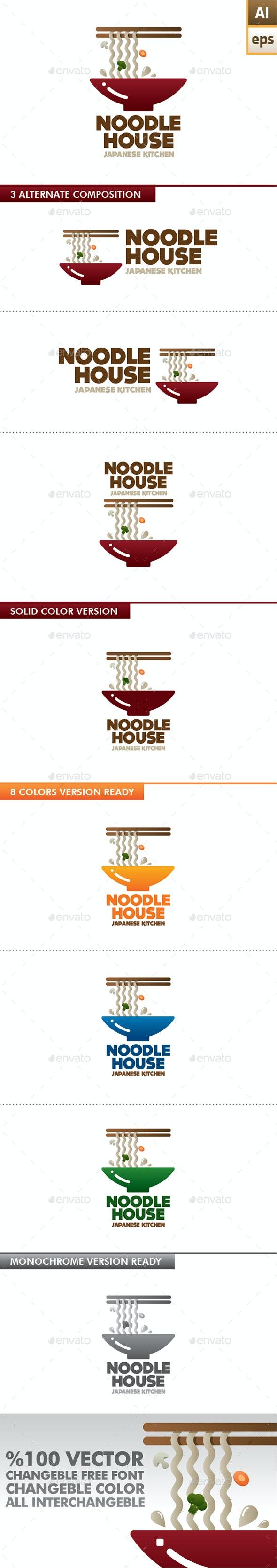 Noodle House Logo - Food Logo Templates
