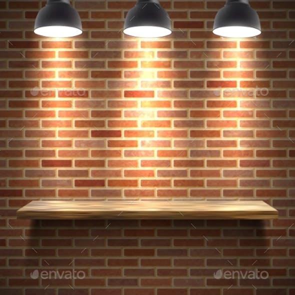 Empty Shelf Illustration