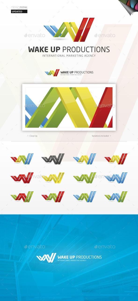 Wake Up Productions - Abstract Logo Templates