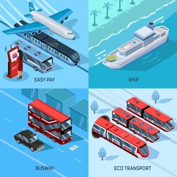 Passenger Transport Isometric 2X2 Design Concept