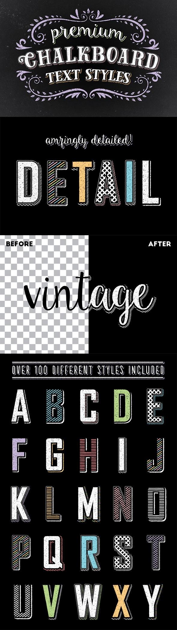 Premium Chalk Text Styles - Styles Illustrator