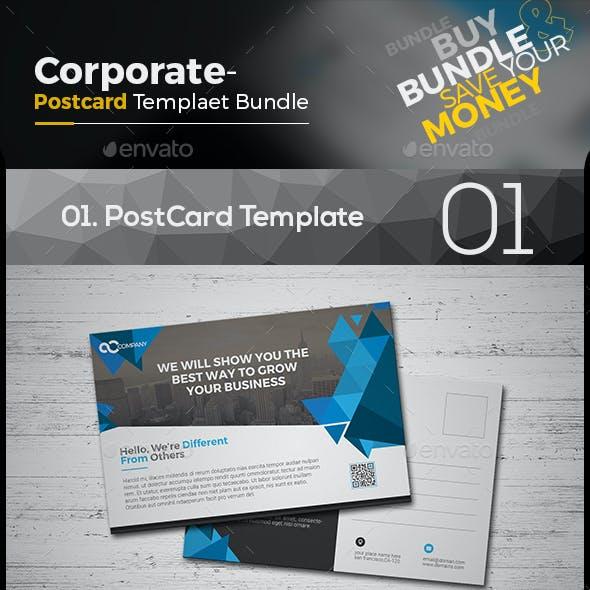 Corporate Postcard Template Bundle