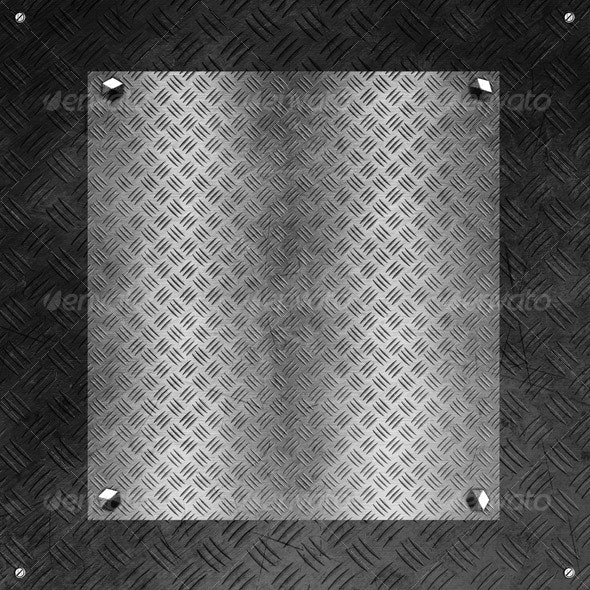 Hi-Res Tileable Metal Plate with Distressed Cover  - Metal Textures