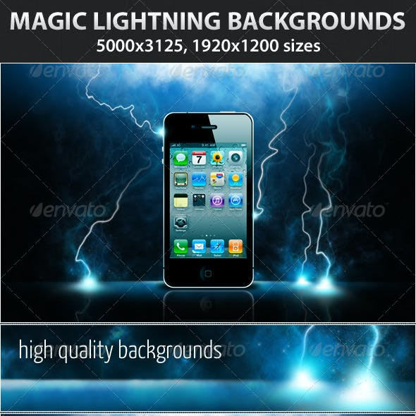 Magic Lightning Backgrounds