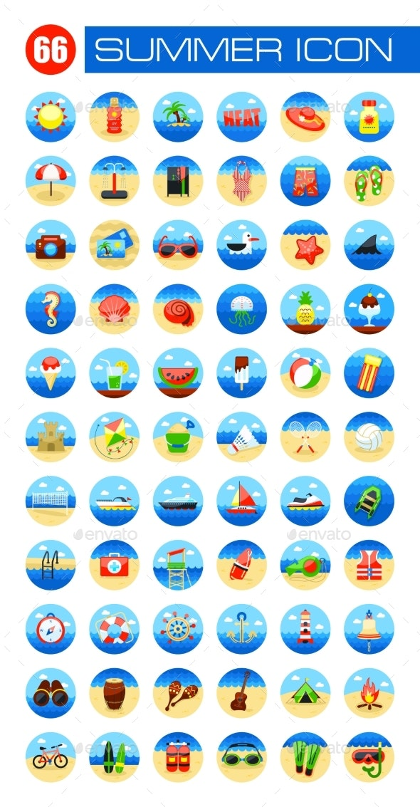 Summer Icon Set. Summer. Vacation - Icons